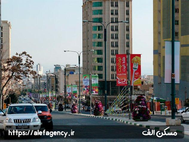 خیابان های تمیز و خلوت سعادت آباد
